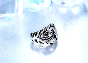 Stainless Steel Dragon Ring - The Creative Booth