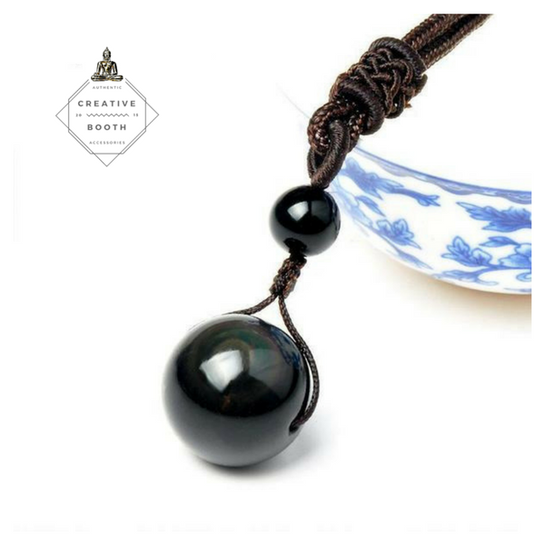 Rainbow Eye Obsidian Pendant - 42% Off  + Free Shipping! - The Creative Booth