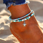 Double Layer Bohemian Anklet - 55% Off! - The Creative Booth