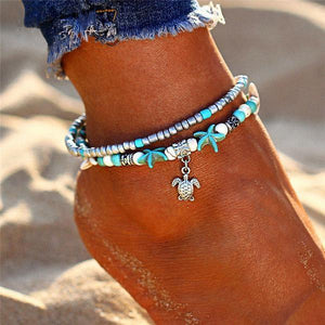 Double Layer Bohemian Anklet