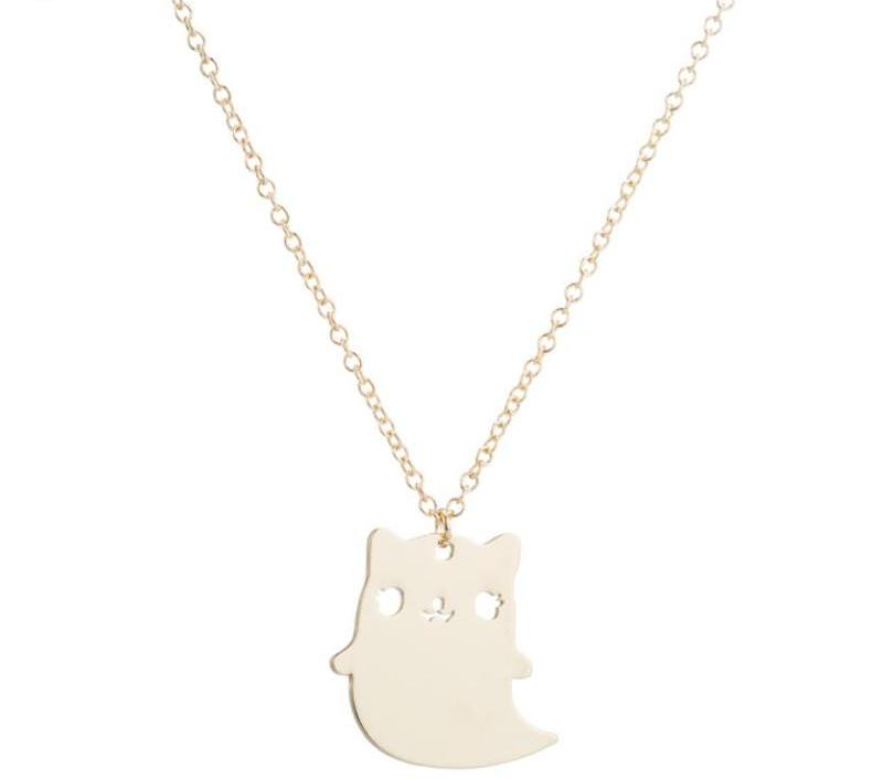 Cute Spooky Cat Necklace - 30% OFF + FREE SHIPPING - The Creative Booth