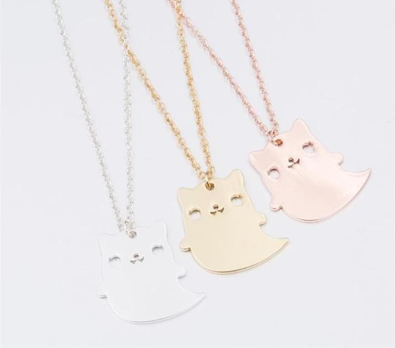 Cute Spooky Cat Necklace - The Creative Booth