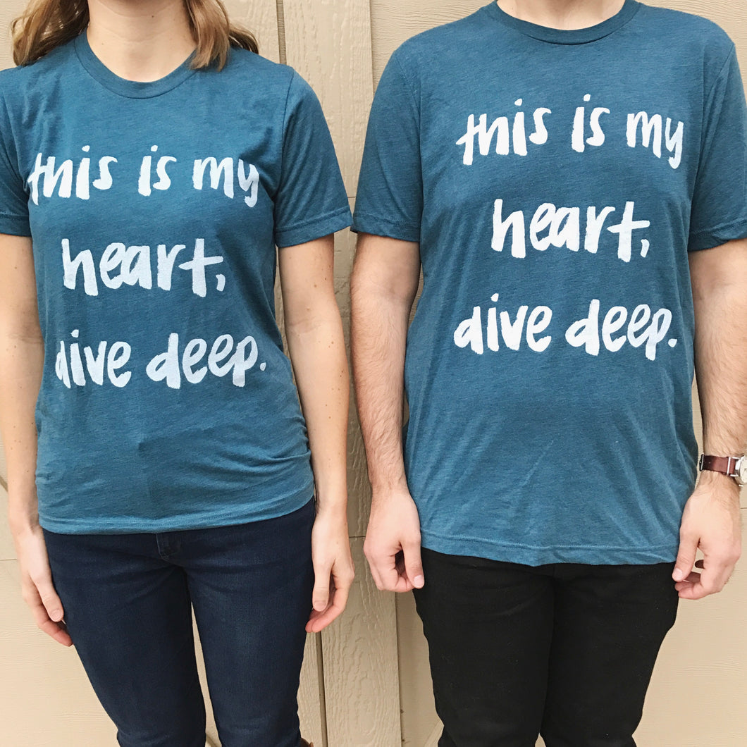 Dive Deep Unisex Tee (Blue)