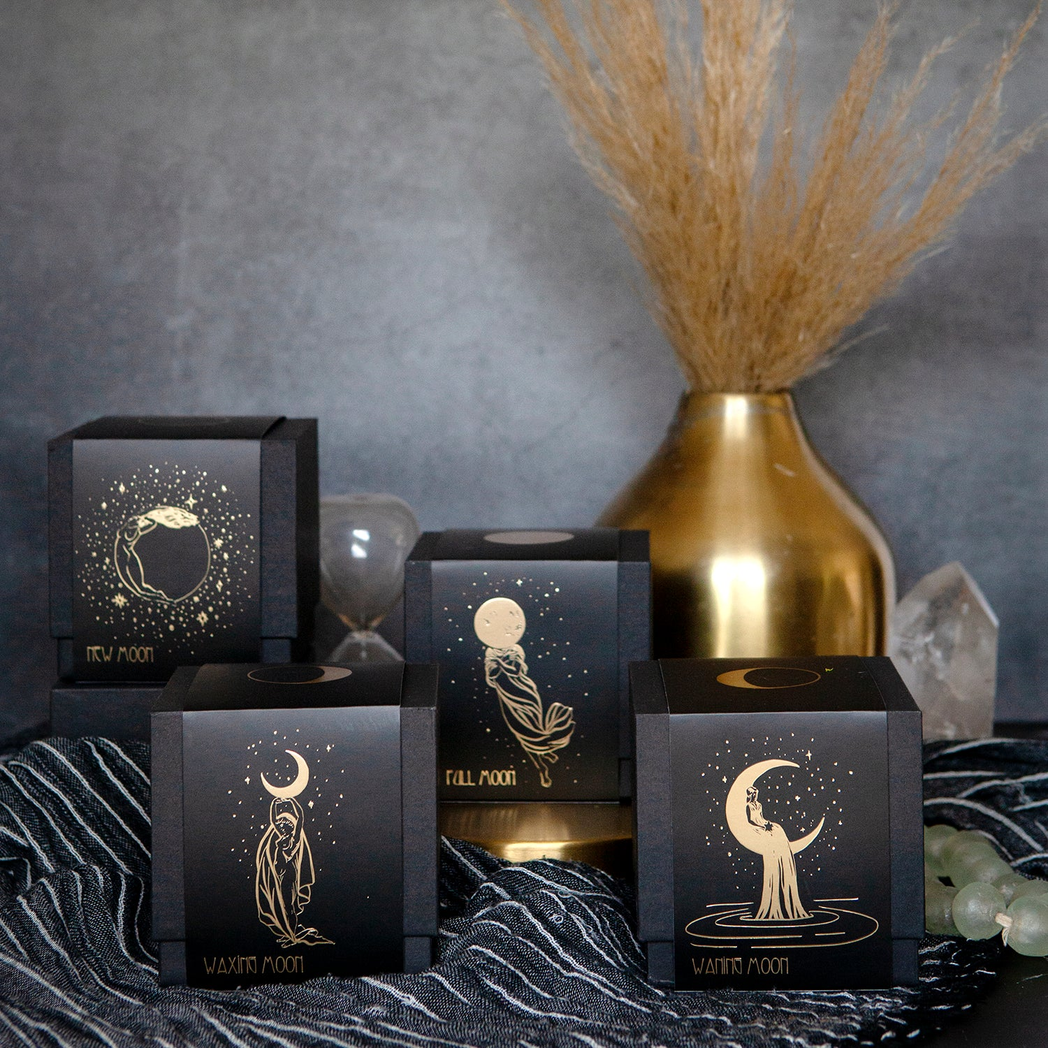 LUNAR PHASES CANDLE SET