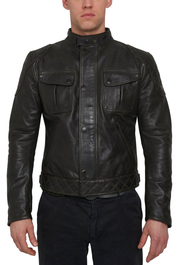 TOURIST TROPHY LEATHER BLOUSON MAN