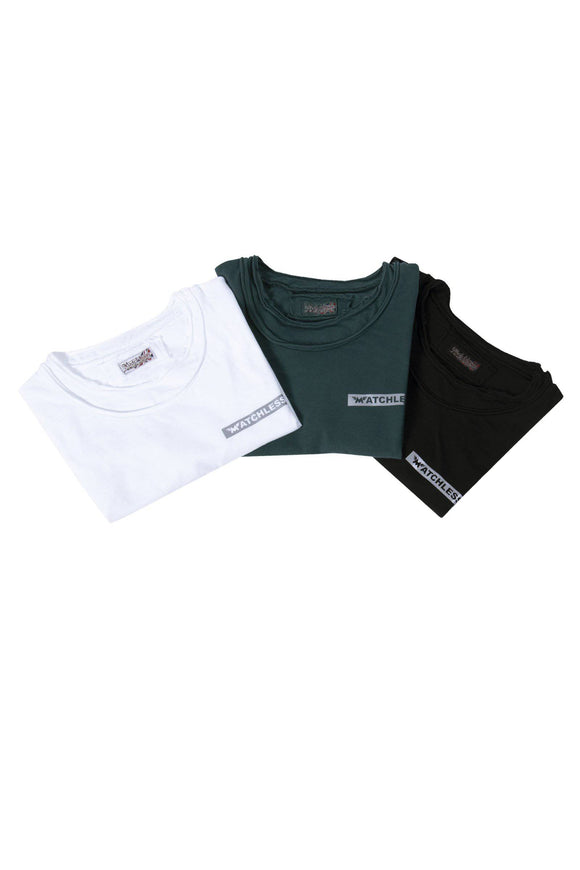 3 PACK MATCHLESS STRIPE T-SHIRT MAN