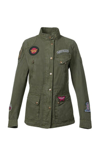 MISS DIANA PATCH JACKET LADY MIL. GREEN