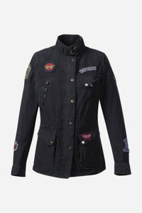 MISS DIANA PATCH JACKET LADY BLACK