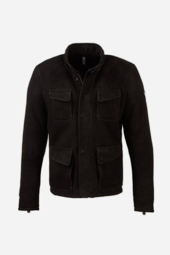 FULHAM SHEARLING JACKET MAN BLACK