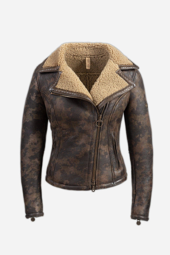 NEW KATE SHEARLING BLOUSON LADY CAMOUFLAGE