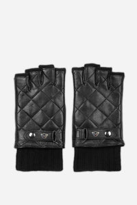 QUILTED WOOL CUT GLOVES