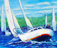 Racing Sailboats