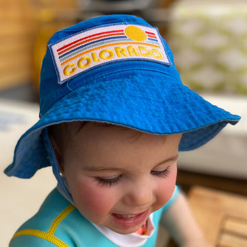 Colorado Baby & Toddler Sun Hat - Baby Retro Sunrise Colorado Baby Bucket Hat