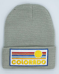 Colorado Infant Beanie - (Newborn - 6 months) Retro Sunrise Colorado Baby Knit Hat