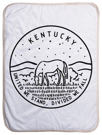 "Kentucky State Design - Sherpa Baby Blanket (40"" x 30"") 40x30"