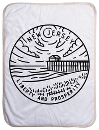 "New Jersey State Design - Sherpa Baby Blanket (40"" x 30"") 40x30"