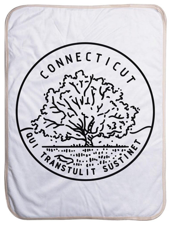 Connecticut State Design - Sherpa Baby Blanket (40