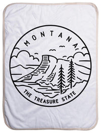 "Montana State Design - Sherpa Baby Blanket (40"" x 30"") 40x30"