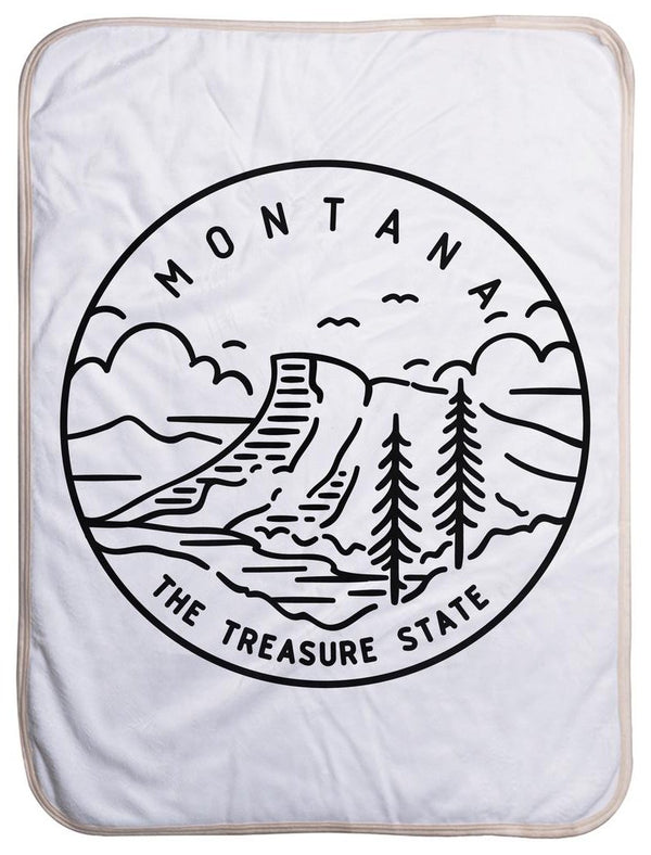 Montana State Design - Sherpa Baby Blanket (40