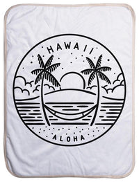 "Hawaii State Design - Sherpa Baby Blanket (40"" x 30"") 40x30"