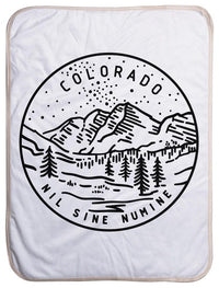 "Colorado State Design - Sherpa Baby Blanket (40"" x 30"") 40x30"
