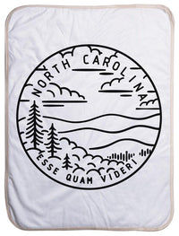 "North Carolina State Design - Sherpa Baby Blanket (40"" x 30"") 40x30"
