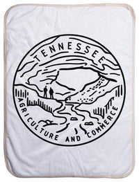 "Tennessee State Design - Sherpa Baby Blanket (40"" x 30"") 40x30"