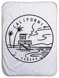 "California State Design - Sherpa Baby Blanket (40"" x 30"") 40x30"