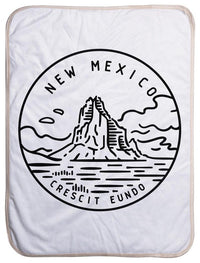 "New Mexico State Design - Sherpa Baby Blanket (40"" x 30"") 40x30"