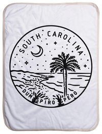"South Carolina State Design - Sherpa Baby Blanket (40"" x 30"") 40x30"
