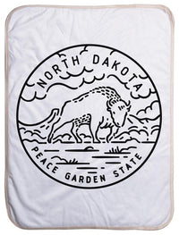 "North Dakota State Design - Sherpa Baby Blanket (40"" x 30"") 40x30"