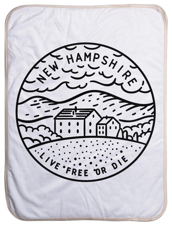 "New Hampshire State Design - Sherpa Baby Blanket (40"" x 30"") 40x30"