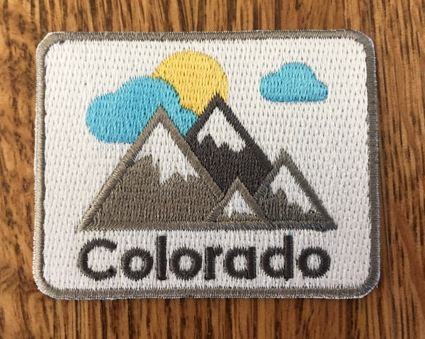 Colorado Patch - Mountains 100% Embroidered Sew or Iron-on Colorado Patch (2.5 inches x 2 inches)