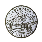 Colorado Patch Mountain & Trees - 100% Embroidery Sew or Iron-on Colorado Patch (2.5 inches wide)