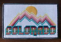 Colorado Patch - Retro Mountain Design 100% Embroidery Sew or Iron-on Colorado Patch (4in x 2.6in)