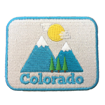 Colorado Iron-on Patch - Bluebird Mountain 100% Embroidered Sew or Iron-on Colorado Patch (2.5 inches x 2 inches)