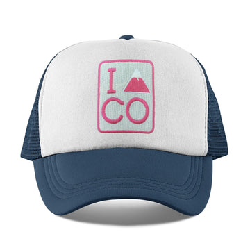 I Heart / Love Colorado Kid's Trucker Hat (Ages 2-10) - Colorado Snapback Toddler Hat / Kid's Hat