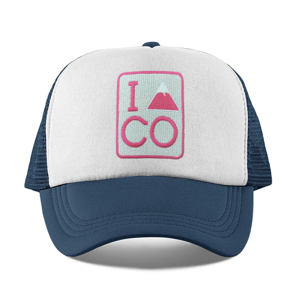 I Heart / Love Colorado Kid's Trucker Hat (Ages 2-10) - Colorado Snapback Infant Hat / Toddler Hat  / Kid's Hat