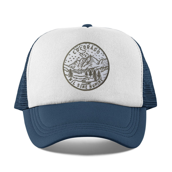 Colorado Kid's Trucker Hat (Ages 2-10) - State Design Snapback Colorado Infant Hat / Toddler Hat  / Kid's Hat