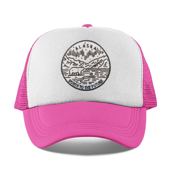 Alaska Kid's Trucker Hat (Ages 2-10) - State Design Snapback Alaska Infant Hat / Toddler Hat  / Kid's Hat