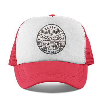 Alaska Kid's Trucker Hat (Ages 2-10) - State Design Snapback Alaska Toddler Hat / Kid's Hat