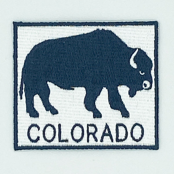Colorado Patch - Buffalo Design 100% Embroidery Sew or Iron-on Colorado Patch (2 7/8in x 2.5in)