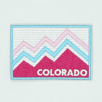 Colorado Patch - Retro 100% Embroidered Sew or Iron-on Colorado Patch (3 inches x 2 inches)