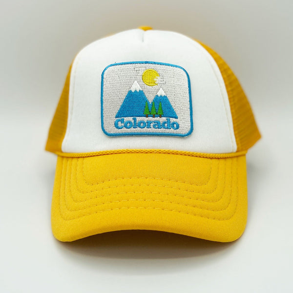 Colorado Infant Trucker Hat (Ages 6m - 18m) - Snapback Bluebird Day Colorado Baby Hat
