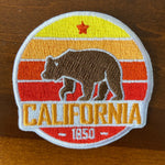 California Patch Retro Bear - 100% Embroidery Sew or Iron-on California Bear Patch (2.5 inches wide)