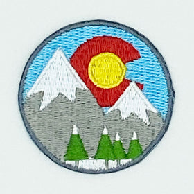 Colorado Patch - Snowy Mountains 100% Embroidery Sew or Iron-on Colorado Patch (1.75 or 2.5 in)