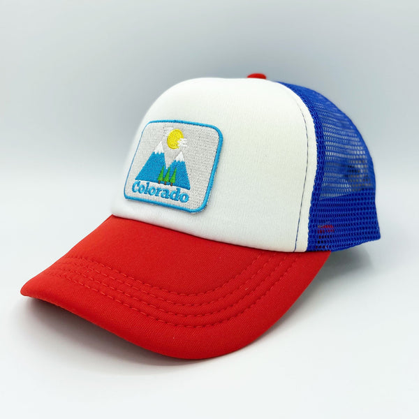 Colorado Kid's Trucker Hat (Ages 2-10) - Snapback Bluebird Colorado Infant Hat / Toddler Hat  / Kid's Hat