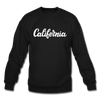 California Sweatshirt - Hand Lettered California Crewneck Sweatshirt - black