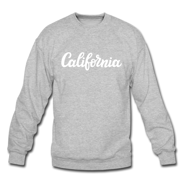 California Sweatshirt - Hand Lettered California Crewneck Sweatshirt - heather gray