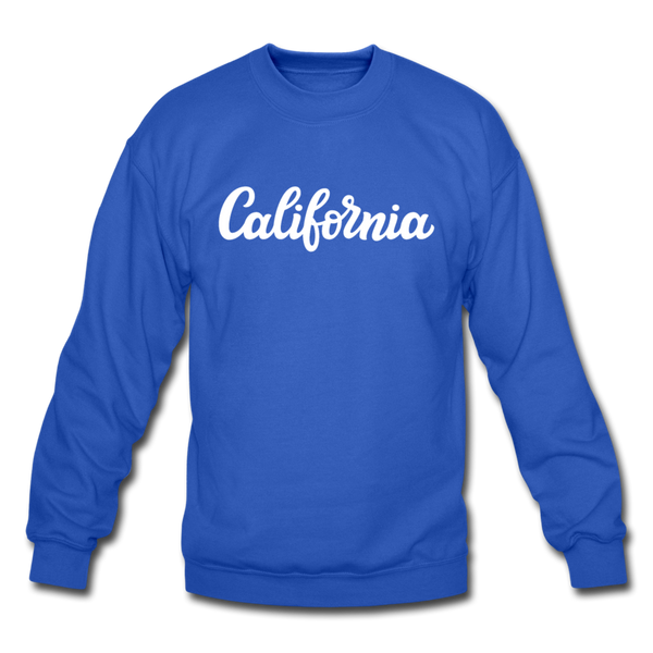 California Sweatshirt - Hand Lettered California Crewneck Sweatshirt - royal blue